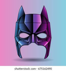 colored mask superhero graphic triangles