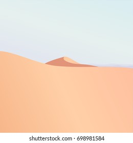 Colored minimalistic desert landscape illustration vector background