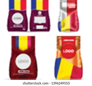 Colored in national production of Andorra Foil Food Snack Sachet Bag Packaging For Coffee, Salt, Sugar, Pepper, Spices, Sachet, Sweets, Chips, Cookies