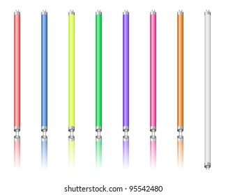 Colored neon tubes