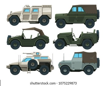 Colored pictures of military heavy vehicles