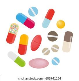 Cartoon Pills Images, Stock Photos & Vectors | Shutterstock