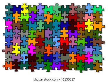 Colored puzzle - vector illustration