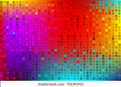 Colored rainbow background made by squares. Vector