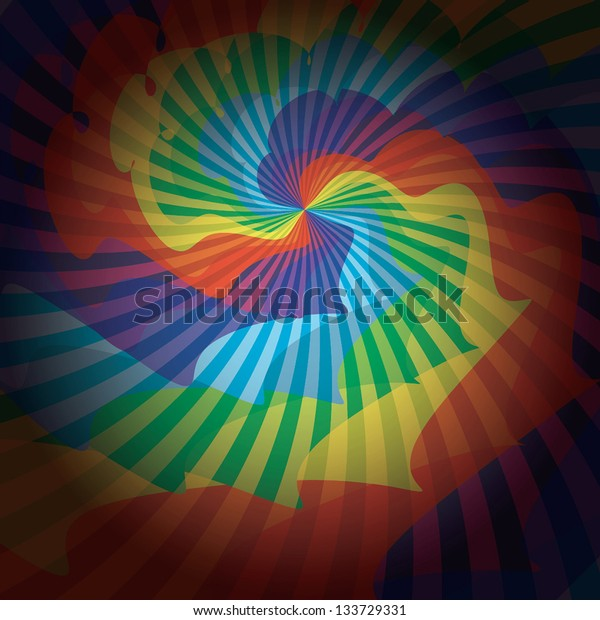 Colored Rays background. Soft light. Vector illustration EPS10