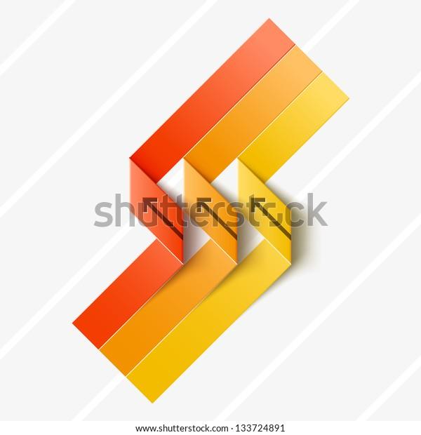 Colored ribbon for origami design