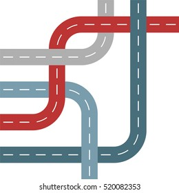 Colored Roads or Streets in Threaded Weave Pattern
