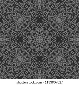 Colored seamless floral pattern. vector. texture for design wallpaper, pattern fills, fabric. olive color