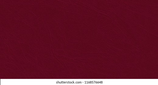 Colored  skin texture, natural or faux claret leather background. Maroon leatherette, closeup.