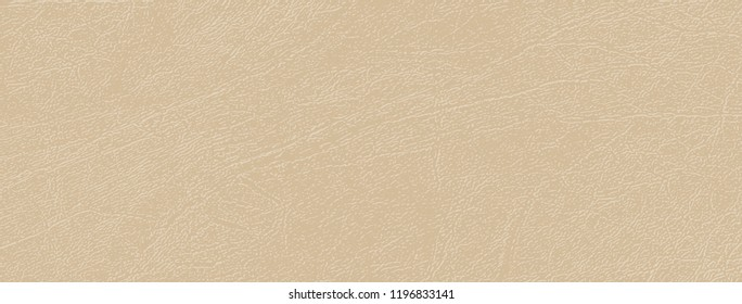 Colored skin texture, natural or faux leather background. Beige tint of almond bone in vector backdrop. Elegant and comfortable shade of Almond Buff. Leatherette, closeup. Modern, fashionable color.