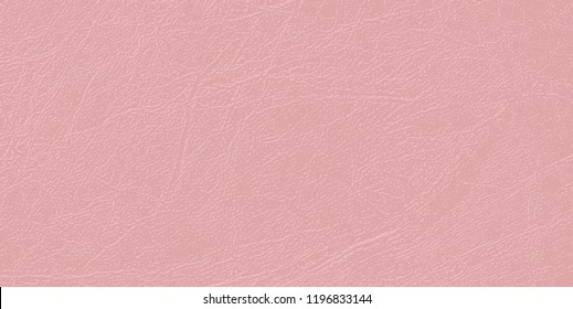 Colored skin texture, natural or faux leather background.  Vector backdrop. Delicate pallid shade of Mellow Rose. Pale pink leatherette, closeup. Modern, fashionable color.