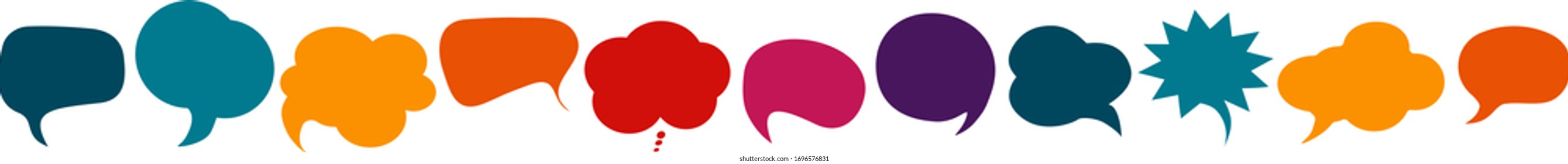 Colored speech bubble. Communication concept. Social network. Colored cloud. To speak - discussion.