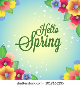 colored spring flower card