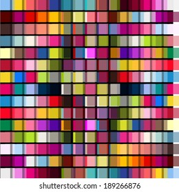 colored squares background. Vector