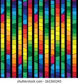 colored stained glass , abstract geometric seamless pattern. vector background. eps 10