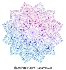 Colored style vector mandala tribal illustration