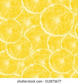 colored stylized orange fruit, seamless pattern