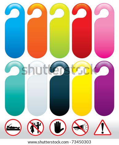 colored templates do not disturb signs stock vector royalty free