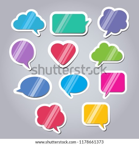 colored text bubbles theme text balloons stock vector royalty free