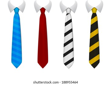 Colored tie
