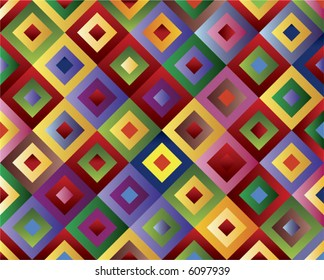 Colored twirl rhomboid pattern