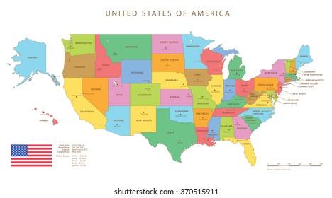Imágenes, fotos de stock y vectores sobre United States Map ...