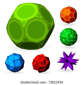 Colored vector polyhedrons.