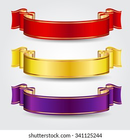 Colored vector ribbons