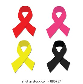 Colored vector ribbons.