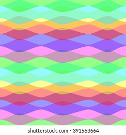 Colored Waves. Seamless Abstract Pattern. The pattern for the web, e-mail, cards, posters etc.