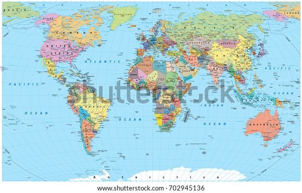 Political Map of the World Wallpaper