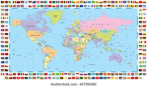 Map Of The World Flags.World Map Flags Images Stock Photos Vectors Shutterstock