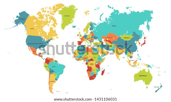 Colored World Map Political Maps Colourful Stock Vector ... on atlas map, 2nd grade world map, africa map, world physical map, free world maps, earth map, world elevation map, world desert map, world communication map, world atlas map, country maps, world map with cities, cool world map, detailed world map, world atlas online, world map outline, world history map, world war ii map, world death map, world climate map, world continent map, world map continents and oceans, world new zealand map, world weather map, satellite world map, world map printable, geography facts, latin america map, topographic world map, geography lessons, atlas maps, world political map, blank world map, world photography map,