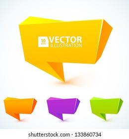 Colorful 3d speech bubbles . Vector illustration for your business website.