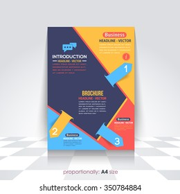 Colorful A4 Flyer and Brochure, Catalog Cover, Corporate Leaflet and Background Design