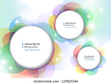 colorful abstract background with circles and stars