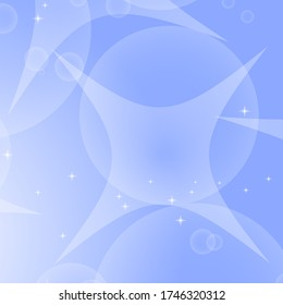 Colorful abstract background with circles and stars. Simple flat vector illustration.