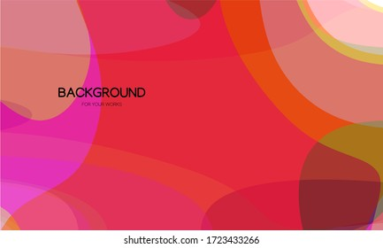 Colorful abstract background with curve lines and transparent geometric shapes.