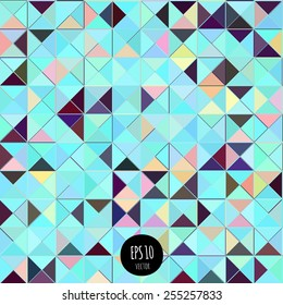 Colorful abstract background. Geometric shapes seamless pattern.