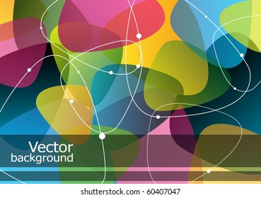 Colorful abstract background with place for text, vector