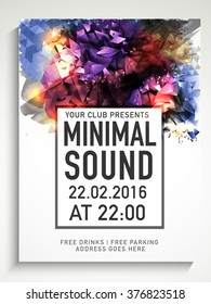 Colorful abstract design decorated, Creative Flyer, Template or Banner for Musical Party celebration.