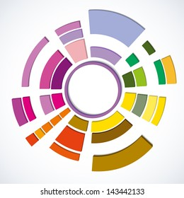 The colorful abstract design element.