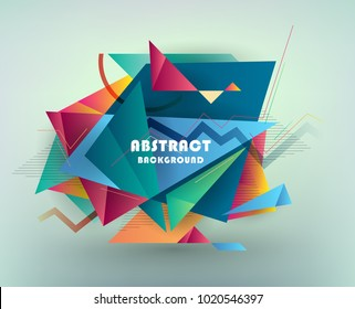 Colorful abstract design. Modern geometric style trends. Background for banner, card, poster, identity,web design.