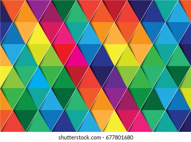 Colorful abstract design with triangle background