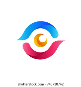 Colorful Abstract Eye Logo