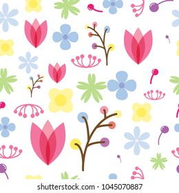 Colorful abstract floral pattern.