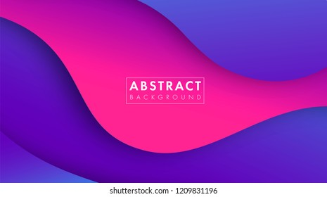 Colorful abstract geometric background.Trend gradient. Fluid shapes composition. Eps10 vector.
