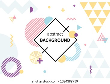 colorful abstract geometric pattern on white background.