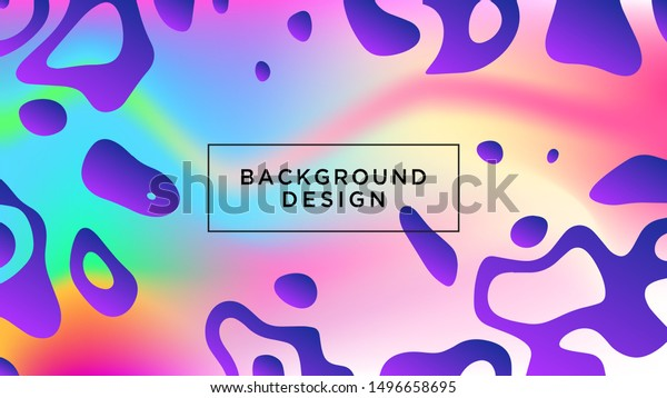 Colorful Abstract Liquid Background Wallpaper Design Stock