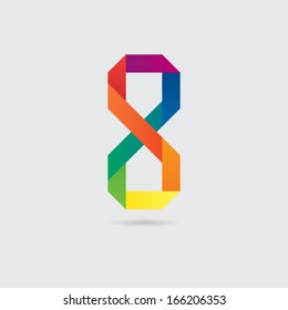 Colorful Abstract Number Eight Symbol